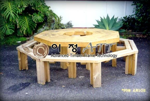 8각 피크닉 테이블과 도면