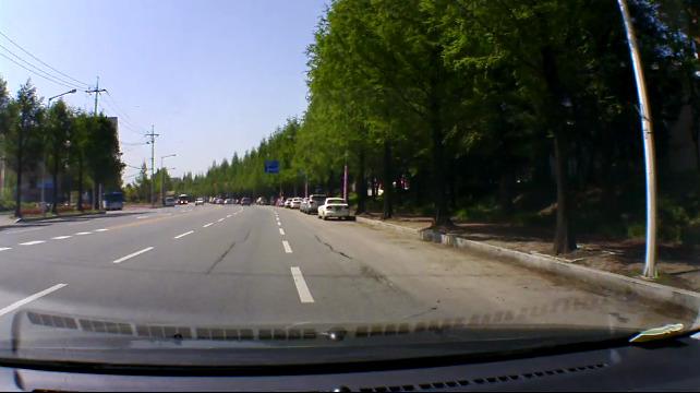 [재원씨엔씨/HD블랙박스 IROAD IONE-700G] 측광과 역광 상황의 영상