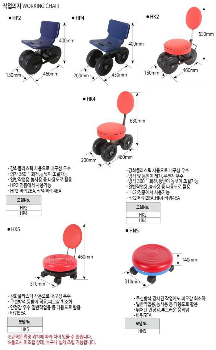 작업의자 HK2 이편한작업의자 제조업체의 운반기계/전동운반차/농작업의자 가격비교 및 판매정보 소개