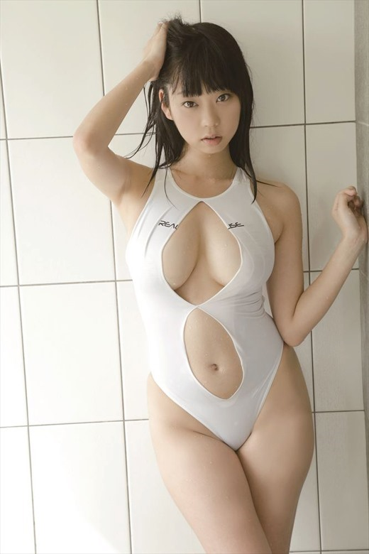 cool Japanese girl in swim wear
