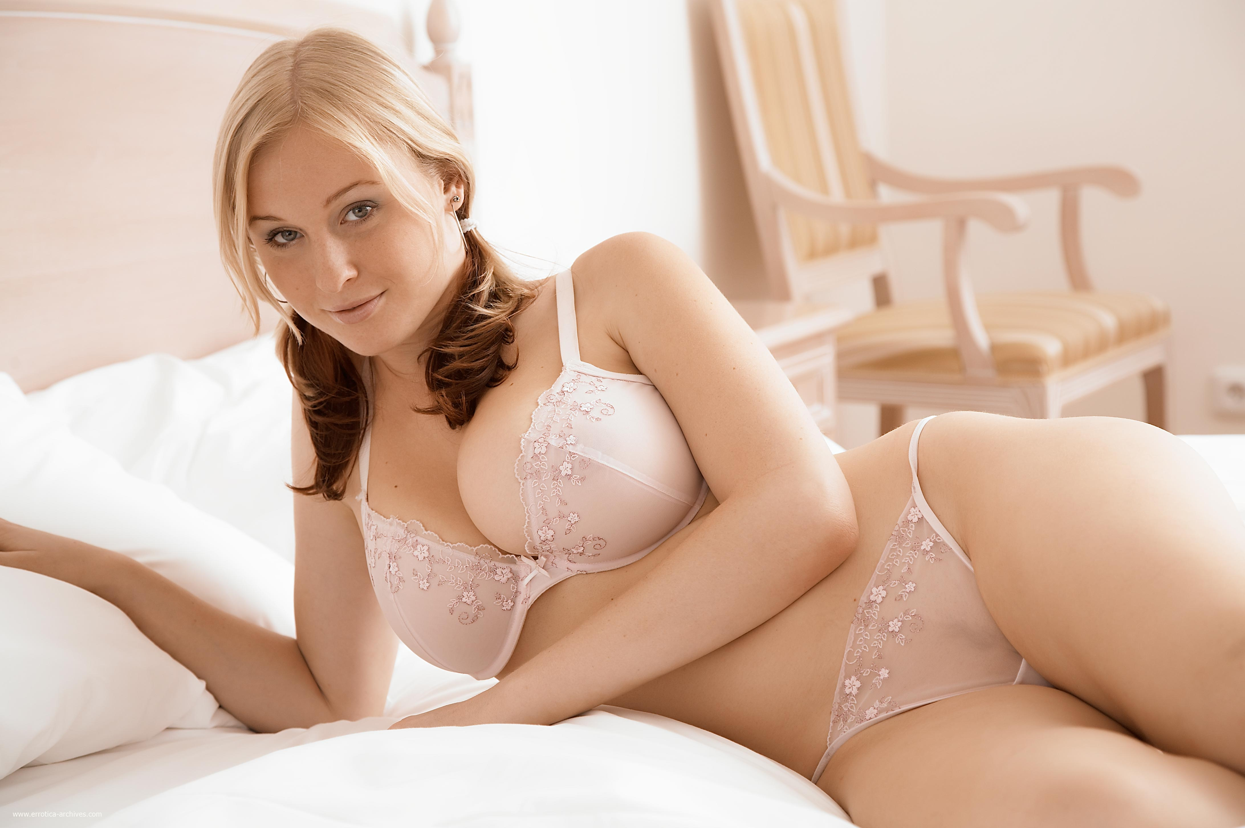 cool glamour in transparent lingerie
