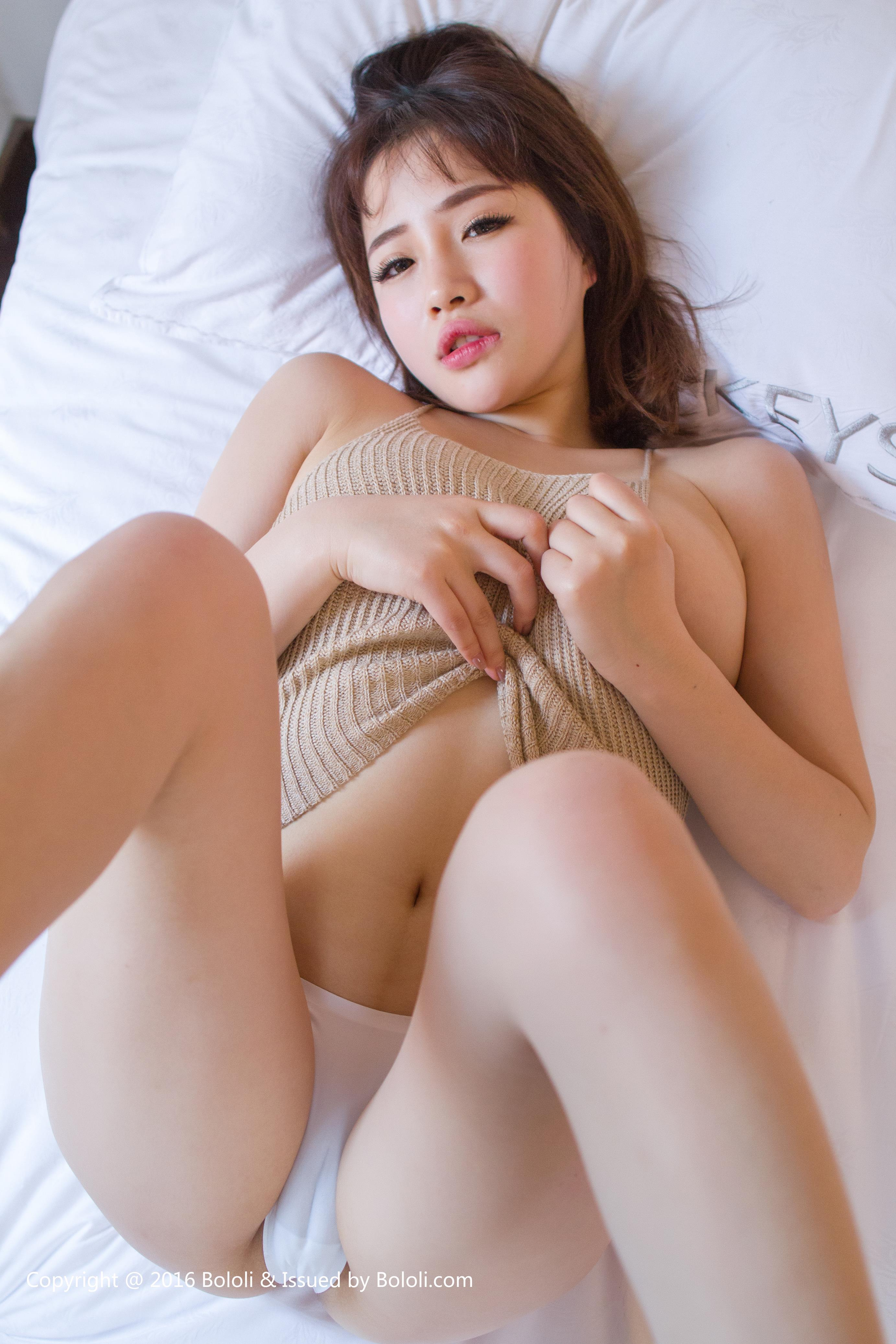 cool Chinese glamour in sexy pose